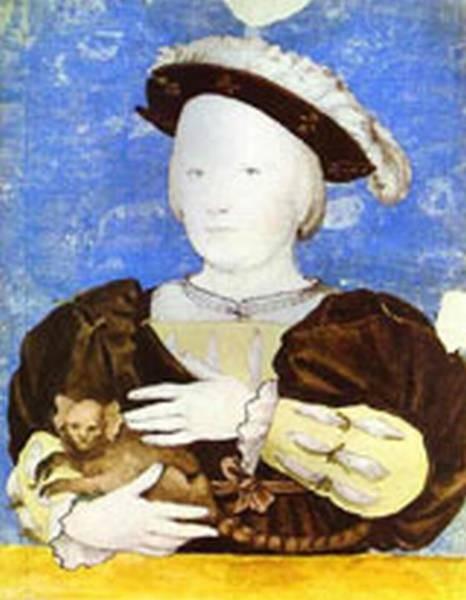 Portrait of edward prince of wales with monkey 1541 2 kun